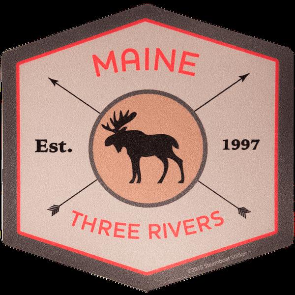 Three Rivers Moose Sticker
