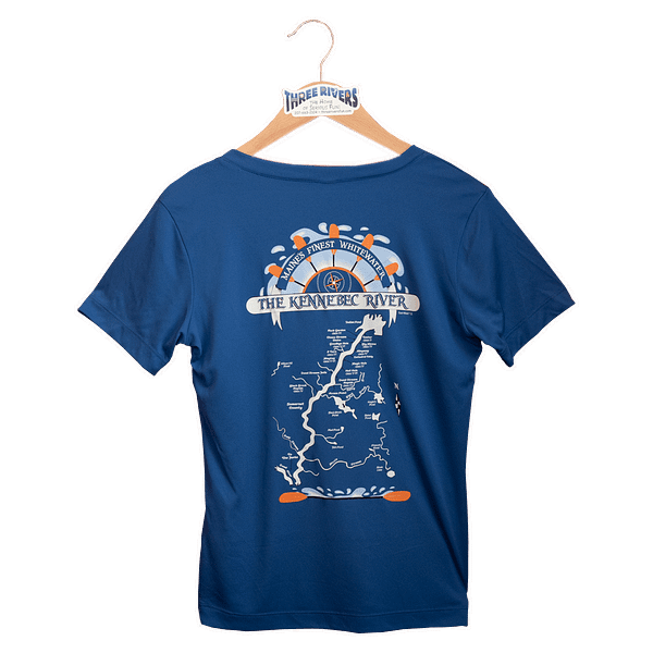 Kennebec River Map Shirt – Royal Blue