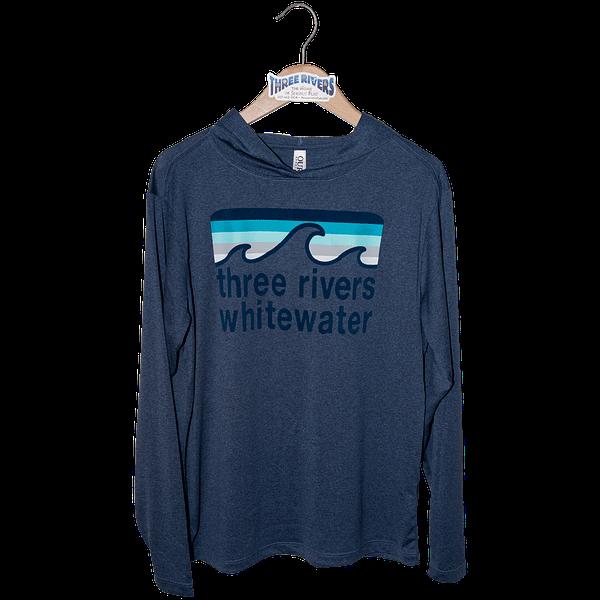 Retro Wave Preformance Hood - T-Shirt