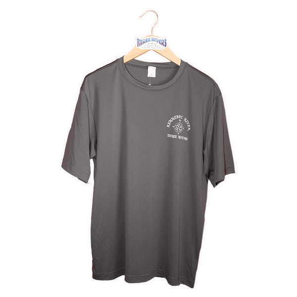 Kennebec River Map Shirt - Iron Grey - T-Shirt