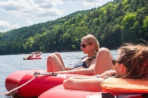 tubing on the kennebec river