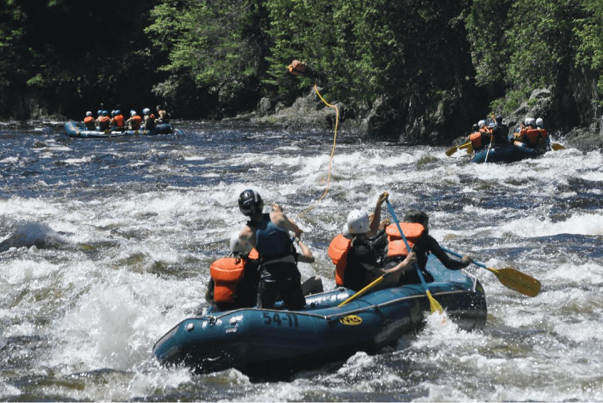 Kennebec River Whitewater Raft Training