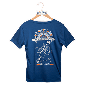 Kennebec River Map Shirt - Royal Blue - T-Shirt