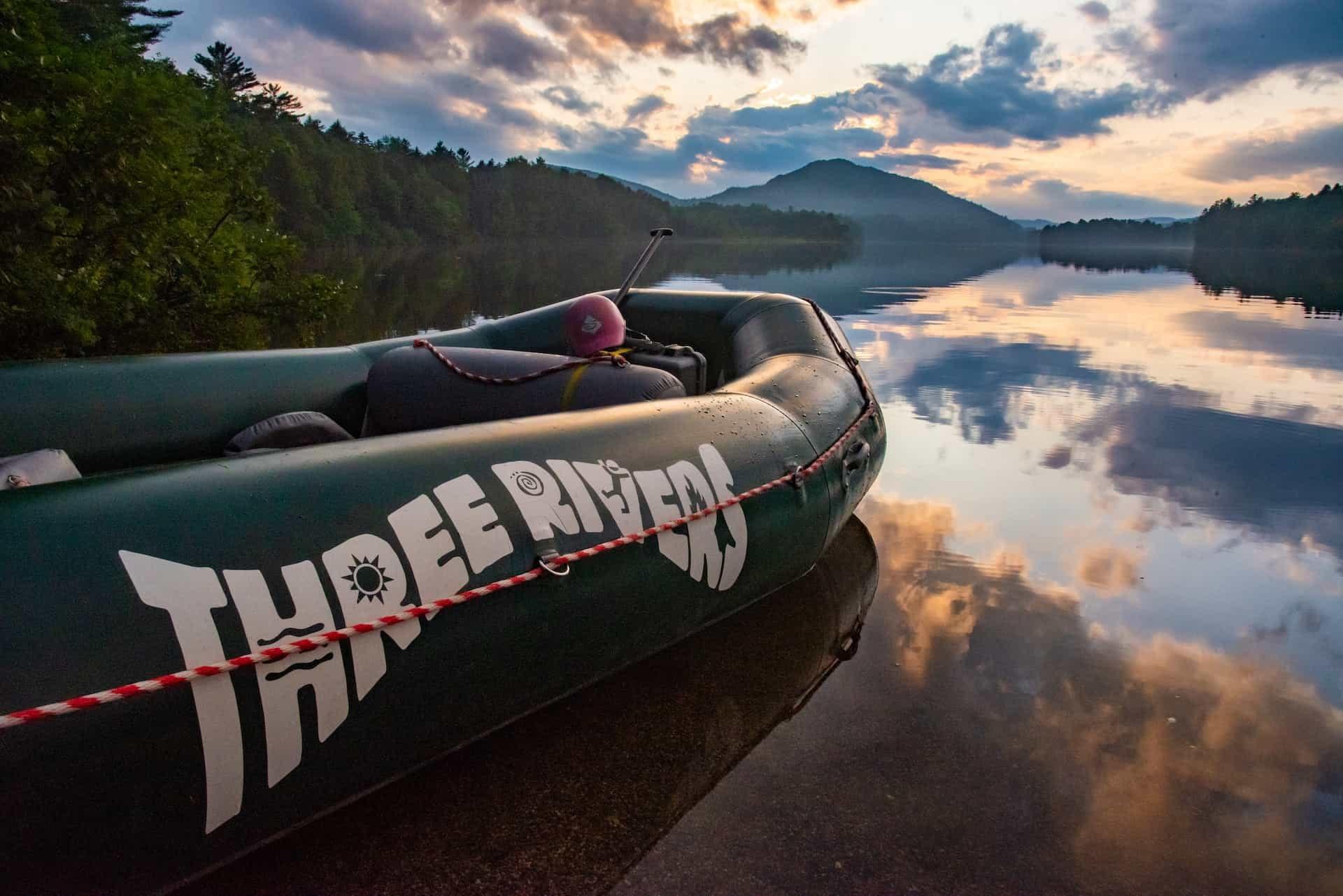penobscot overnight raft on lake