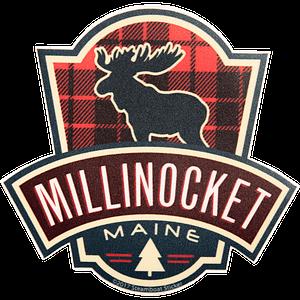 Flannel Moose Milli Sticker