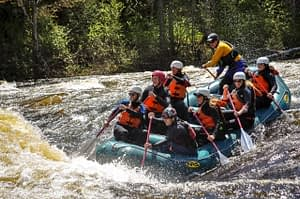 rafters on river