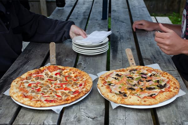 Pizza Outside Dining