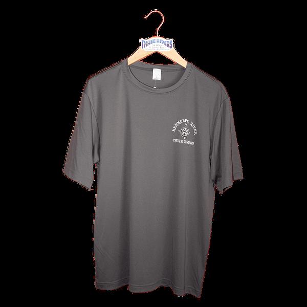 Kennebec River Map Shirt – Iron Grey