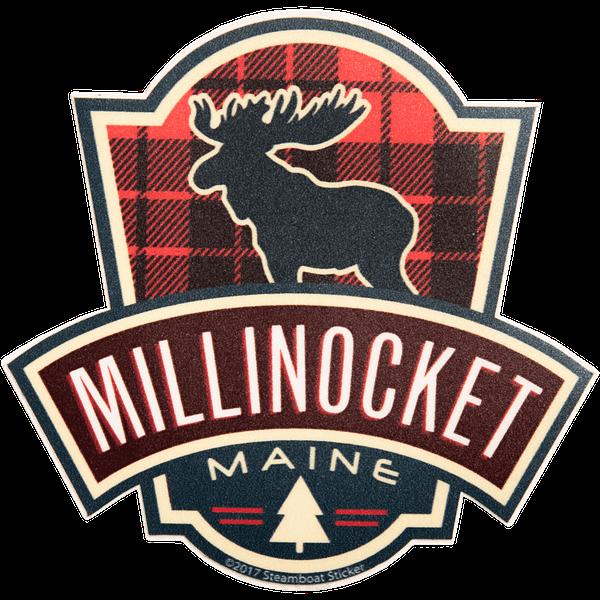 Moose Milli Plaid Sticker