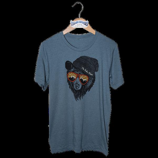 Forks Maine Mountain Bear - T-Shirt