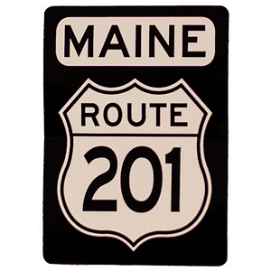 Route 201 Maine Sticker