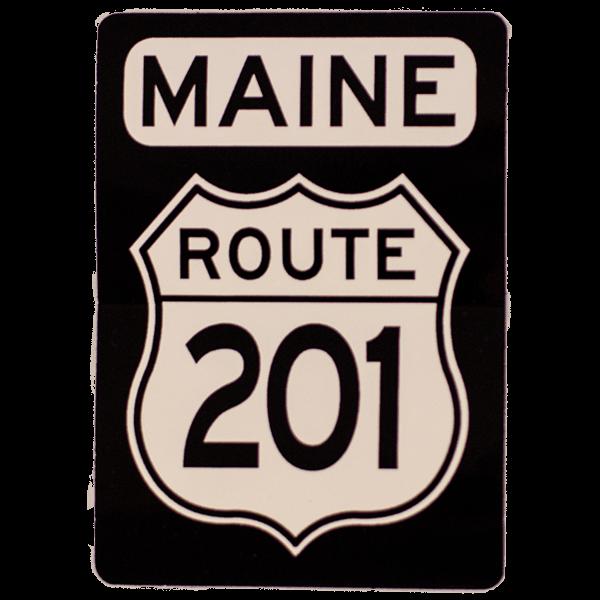 Route 201 Maine Sticker
